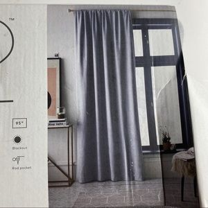 New Project 62 Blackout Curtain 50 x 95 Gray Henna